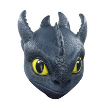 2019 Newest Design Night Fury Mask Full Head How to Train Your Dragon Hidden World Helmet Movie Cosplay Latex Night Fury Toy mercier р night train to lisbon