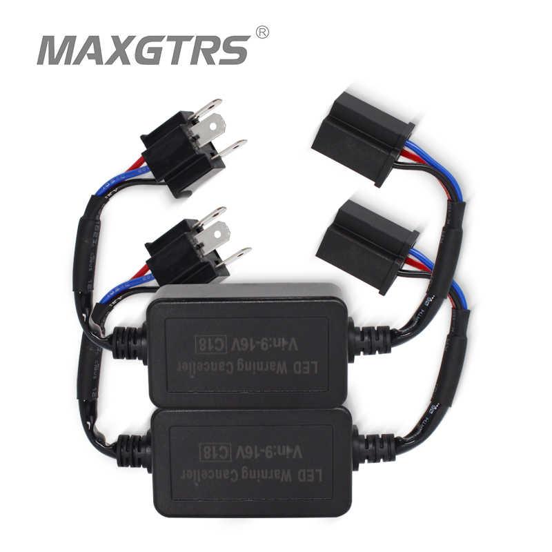 2x Super Canbus H1 H3 H4 H7 H8 H11 9005 9006 Adapter EMC Warning Car LED Decoder Canceller Headlight Fog Light DRL IC No Error