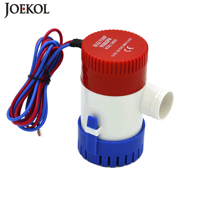 Free shipping dc 12v/24v bilge pump 500/750/1100GPH,electric water pump for boats accessories marin,submersible boat water pump