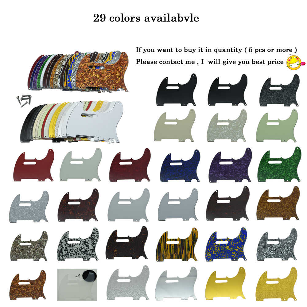 KAISH Telecaster Pickguard Vintage Tele Style 5 Hole Pickguard with screws Various Colors  for Telecaster Guitar