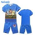 Cinco noches en freddy Boy Ropa Set Niños Trajes Del Deporte ropa para Niños Juegos Para Niños T-shirt + pantalón Fantasias Infantis