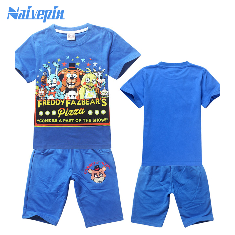 Five night at freddy Boy Clothing Set Children Sport Suits Children`s Clothes Sets For Kids T-Shirt+Pant Fantasias Infantis