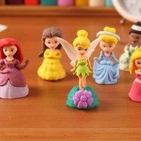 Набор из 6 предметов, творческие подарки, Ластики для детей, школьные принадлежности кавайи, мультяшный милый ластик для девочек