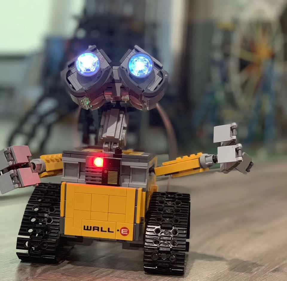 Zestaw oświetlenia LED dla Legoing 21303 i 16003 pomysł Robot WALL E zestaw budowy KitsToys oczy światła