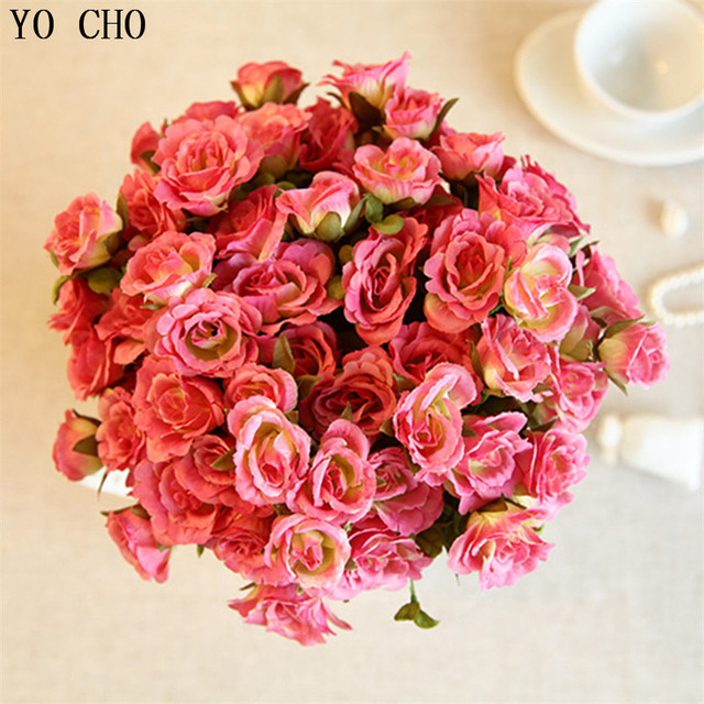 Free shipping fashion artificial flower decoration flower high free shipping fashion artificial flower decoration flower high quality big bunch pink rose artificial flower mightylinksfo