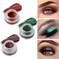 niceface Natural 15 Colors Single Eyeshadow Cream Waterproof Long Lasting Pigments Red Green Color Shimmer Metallic Eye Shadow