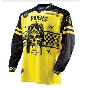 Image 1 - 2019 nowy DH MX Downhill moto cross koszulka wyścigowa moto rcycle moto koszulka z długim rękawem off road jersey 100% poliester koszulka rowerowa