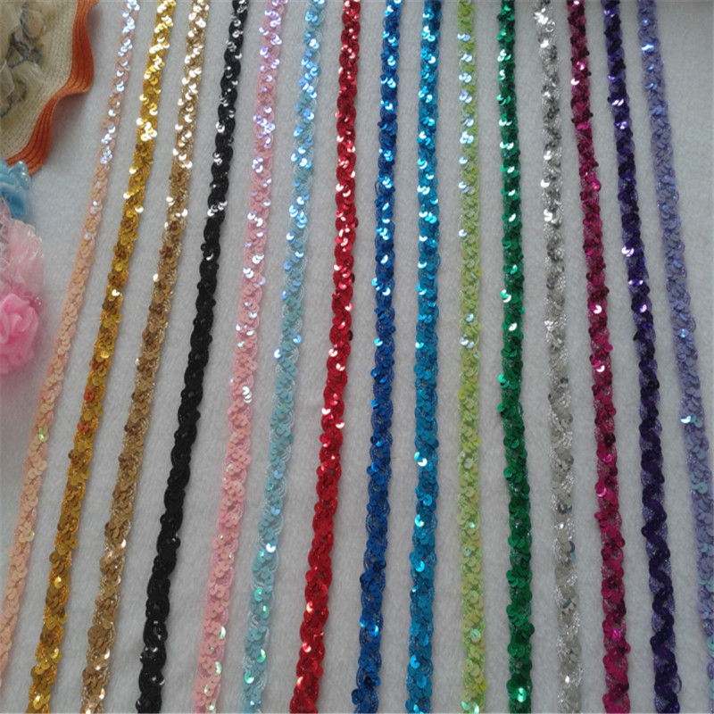 15yard 1 5cm Sequin Embroidered African Lace Fabric Ribbon