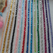 15Yds1.5CM Sequin Embroidered African Lace Fabric Ribbon Trim Sew On Dress Clothes Curtain Accessories Diy Gold Silver Black 3d gold ribbon water solube embroidered fabric material tulle african lace applique for sew cloth wedding dress accessories diy