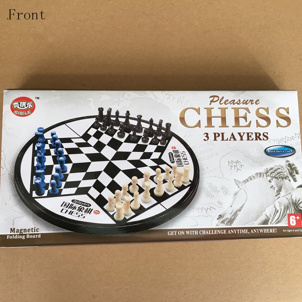 Pleasure Chess 3Players Magnetic Folding Board Set Portable Folding Board  Chesses Game Foreign Trade Training Special Chess In Game Collection Cards  From ...