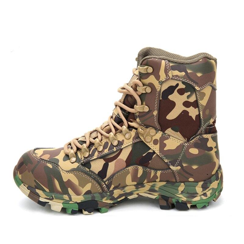 Printemps Camouflage hommes désert Combat bottes tactiques en plein air escalade Jungle chasse cuir imperméable respirant cheville chaussures
