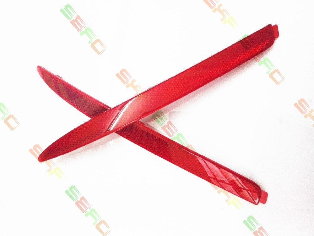 Для Шкода Октавия 2010+ стайлинга автомобилей задний бампер отражатель Лампа ложного света декоративные фонари Красный 1 комплект