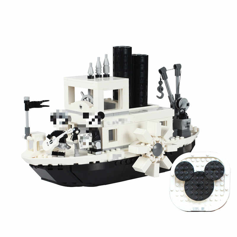 2019 New ideas Steamboat Willie Movie fit legoings 21317 Building Blocks Bricks toys for children Gifts Model Kid Christmas Gift