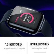 Bracelet intelligent fitness activité montre bracelet intelligent pression artérielle mesure de la fréquence cardiaque brassard étanche grande couleur tactile