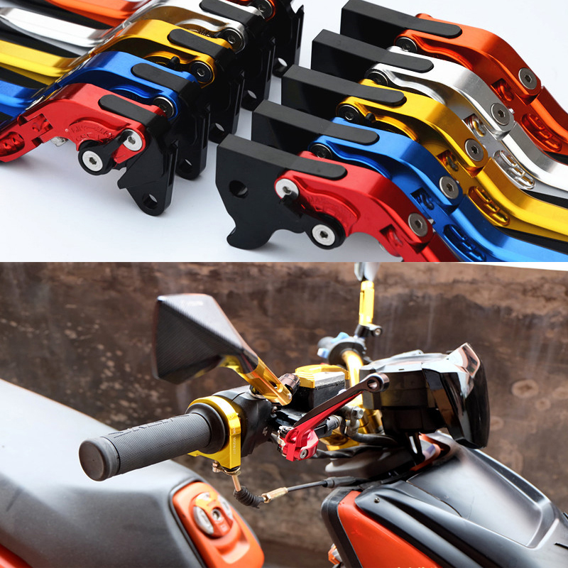 Brand CNC Aluminum Folding Extendable Six-Speed Adjustable Motorcycle Brake Clutch Levers Universal For Yamaha BWS 125 Cygnus-X billet alu folding adjustable brake clutch levers for motoguzzi griso 850 breva 1100 norge 1200 06 2013 07 08 1200 sport stelvio