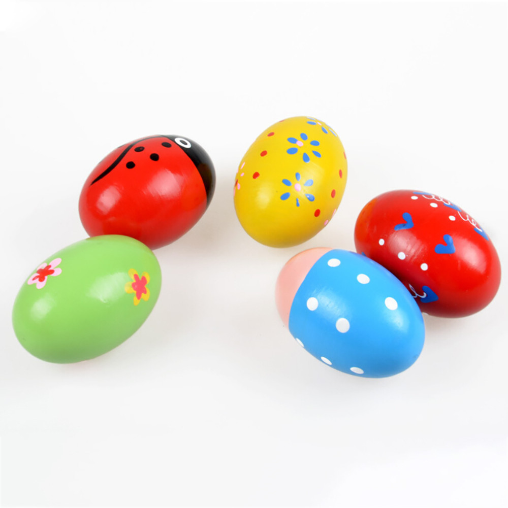 Instruments Musical-Toys Wooden Children Gift For Percussion Sand-Eggs Easter 30S8201
