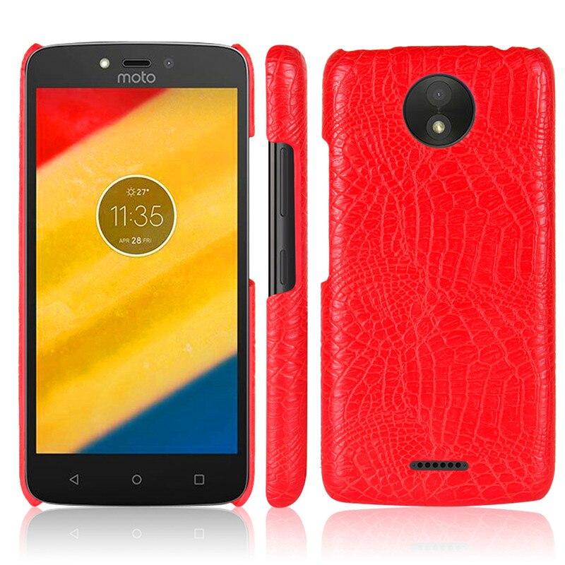 Для Motorola Moto C Plus Крокодил зерна Жесткий ПК с ПУ кожаный чехол для motorla Moto C плюс XT1755 XT1723