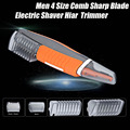 Men Multi-functional 4 Size Comb Sharp Blade Nose Electric Ear Shaver Hair Eyebrow Trimmer Clipper AAA batteries