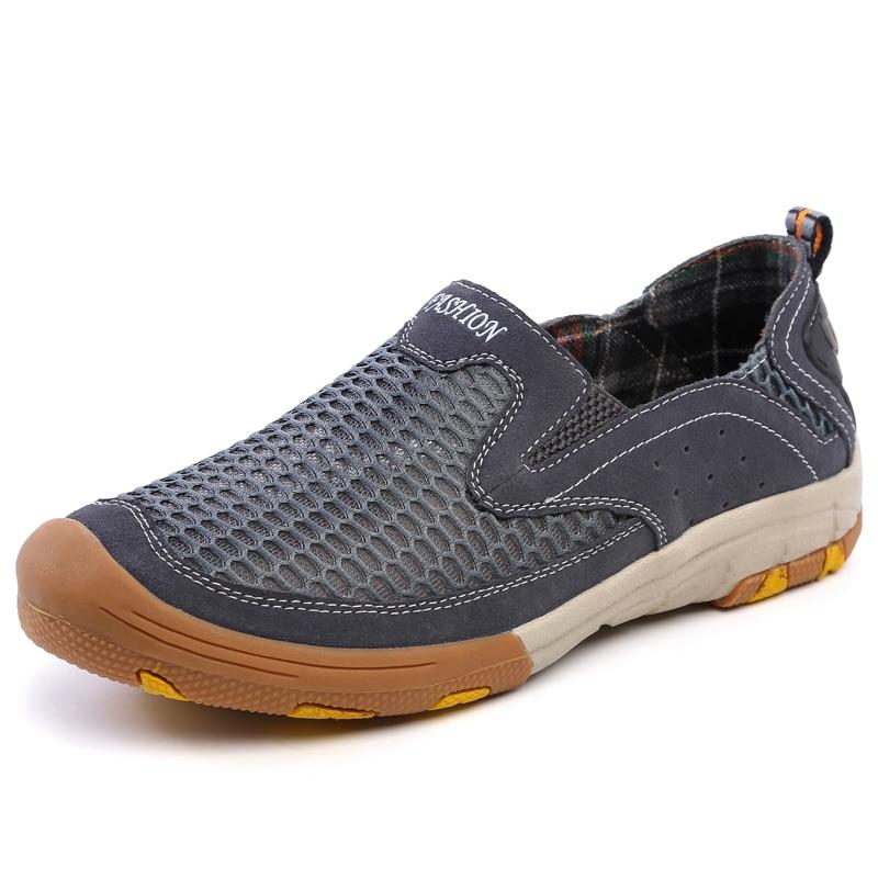 ФОТО Men Shoes Summer Outdoor Air Mesh Zapatillas Deportivas Hombre Tenis Shoes Men Casual Shoes Sapatos Masculino Spring Autumn
