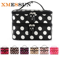 XMESSUN High Quality Dot Cosmetic Cases for Women Fashion Toiletry Makeup Bag Wash Organizer Case Make Up Travel Bags bolsa Sac