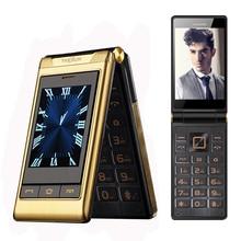 TKEXUN G10 двойной экран «3,0 Dual SIM длительным временем ожидания сенсорный экран FM телефон для пожилых людей Флип Мобильный телефон для пожилых людей P063