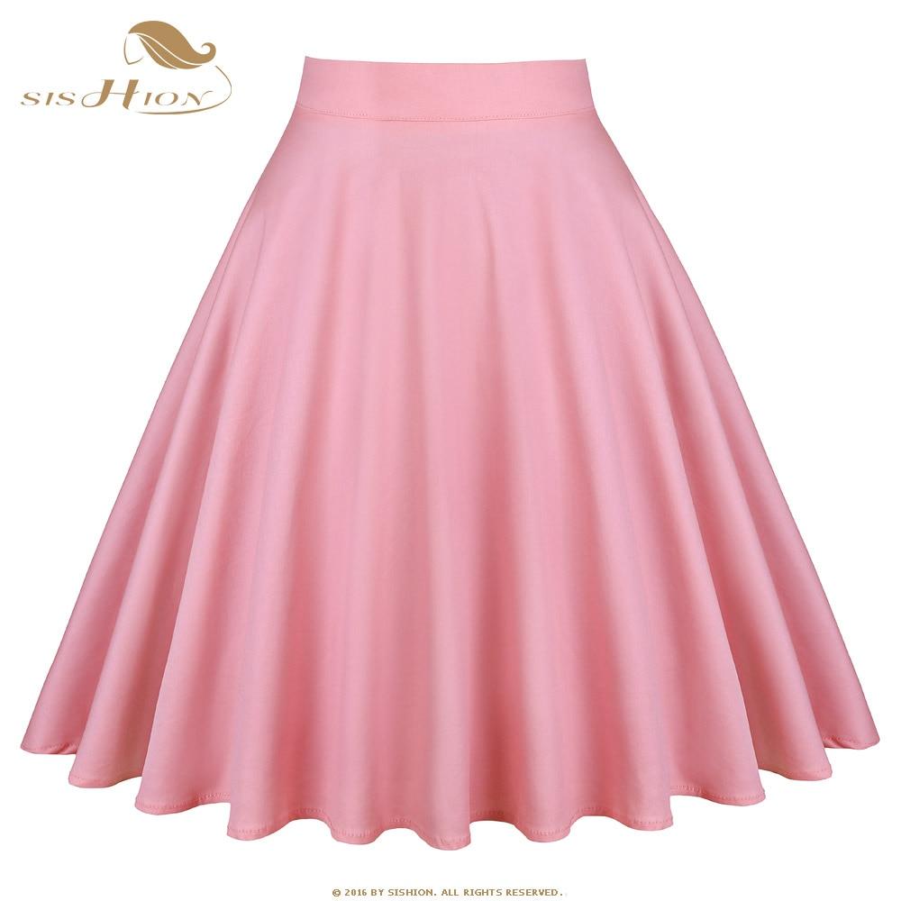 Women Girls Casual High Waist A-line Skirt Elegant Solid Color Swing Skirt Women's Clothing