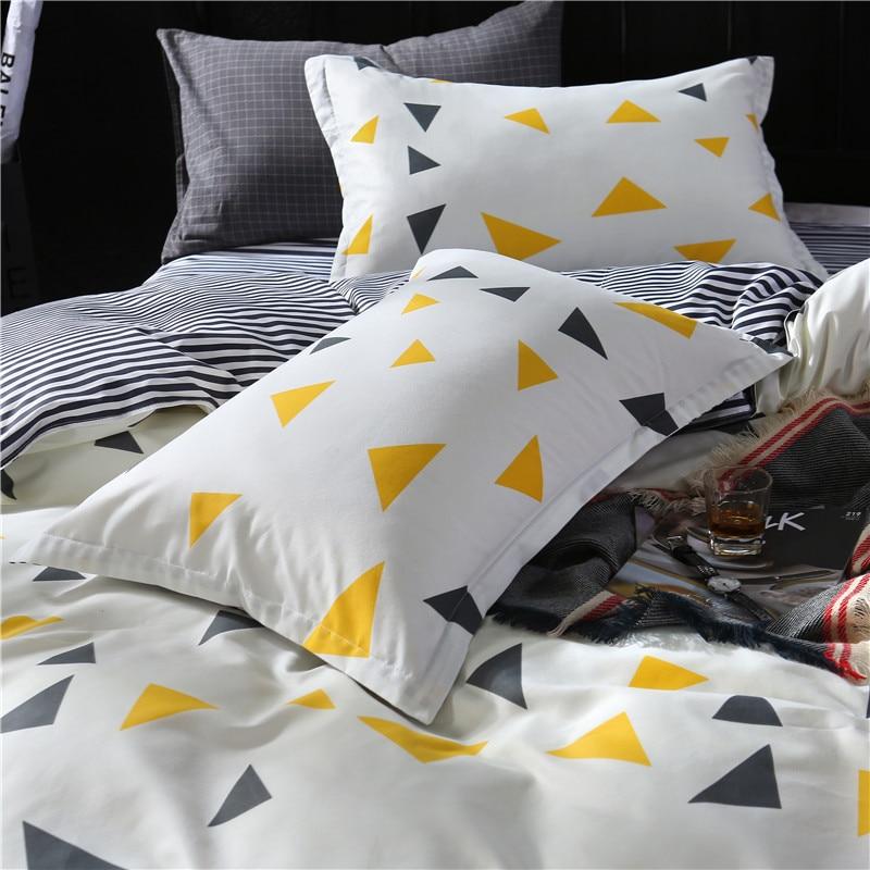 SLOWDREAM Geometry Bedding Set Double Linens Flat Sheets Nordic Bedspread Duvet Cover Comforter Adult Queen King Bed Linen Set in Bedding Sets from Home Garden