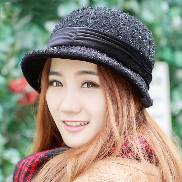 ccc763df5 2018 autumn winter hats for women fashion Foldable lady Fedoras hat Autumn  caps hat girl female Floppy gorro feminino -in Fedoras from Women's ...