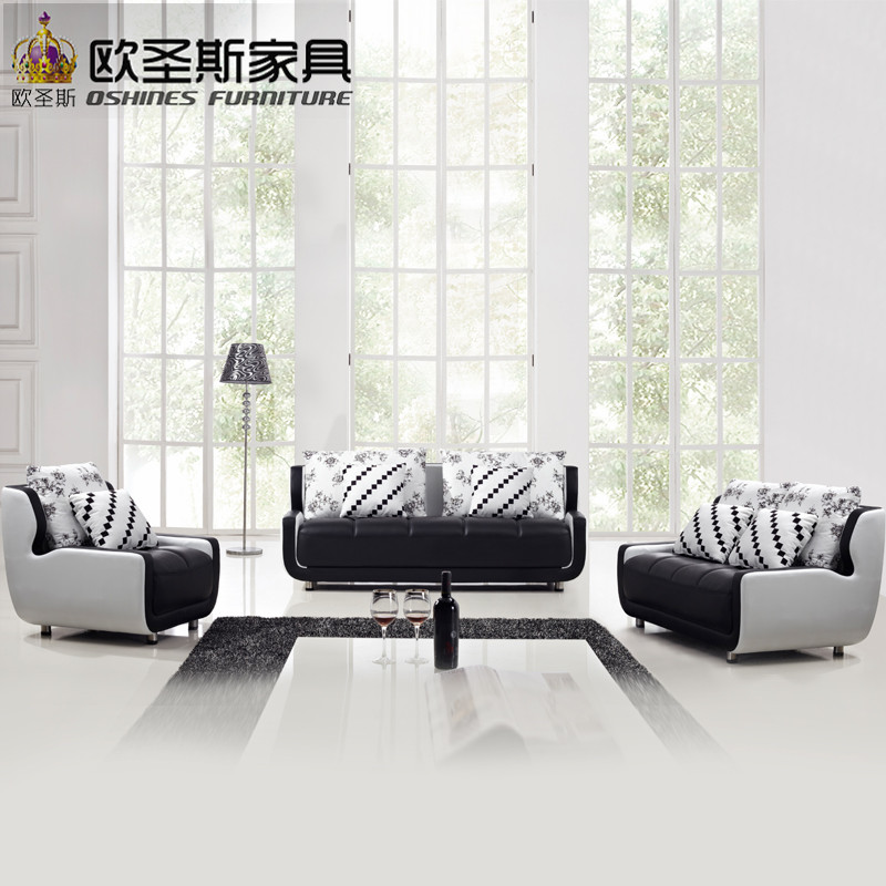 Cheap black and white small size mini simple design modern for Cheap black couch set