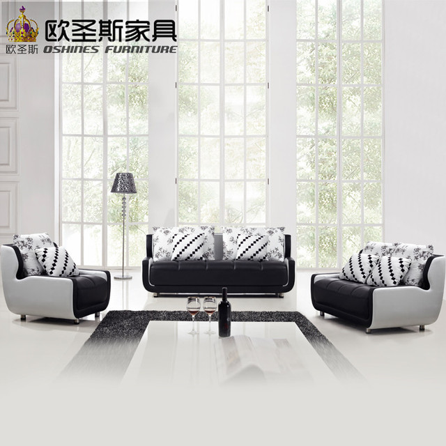 Cheap Black And White Small Size Mini Simple Design Modern Chesterfield  Leather Fabric Moroccan Sofa Set