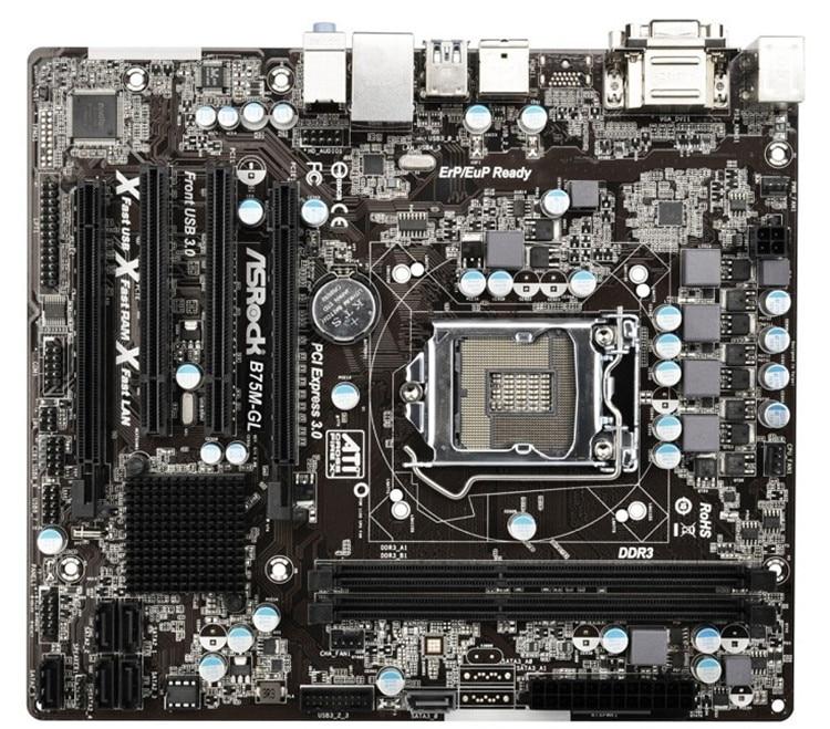 B75M-GL desktop motherboard LGA 1155 B75 USB3 ATX Motherboard taya t b 12526 neck gl hematite