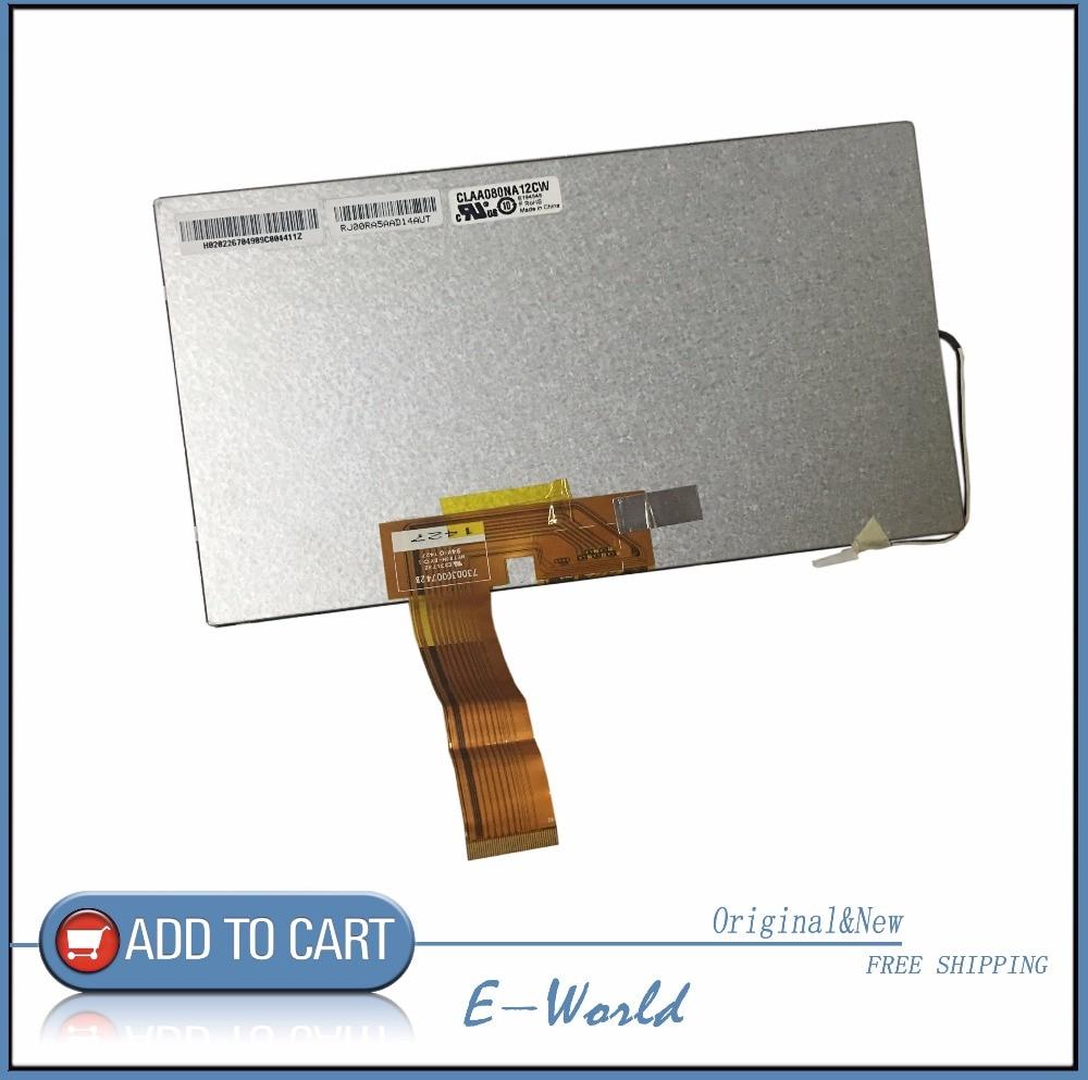 Original 8inch LCD screen CLAA080NA12CW CLAA080NA12 for Car DVD Free shipping