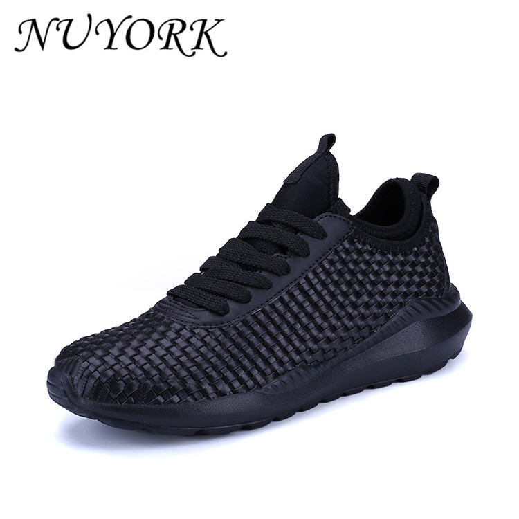 2017 The New Spring and summer Breathable running shoes Weaving mesh men sports shoes XK1756