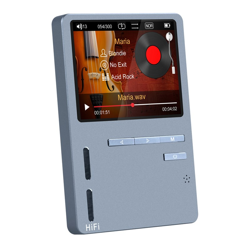 Original ONN X6 Hifi MP3 High Resolution Audio Player with HD Screen FM Bass Speaker Support