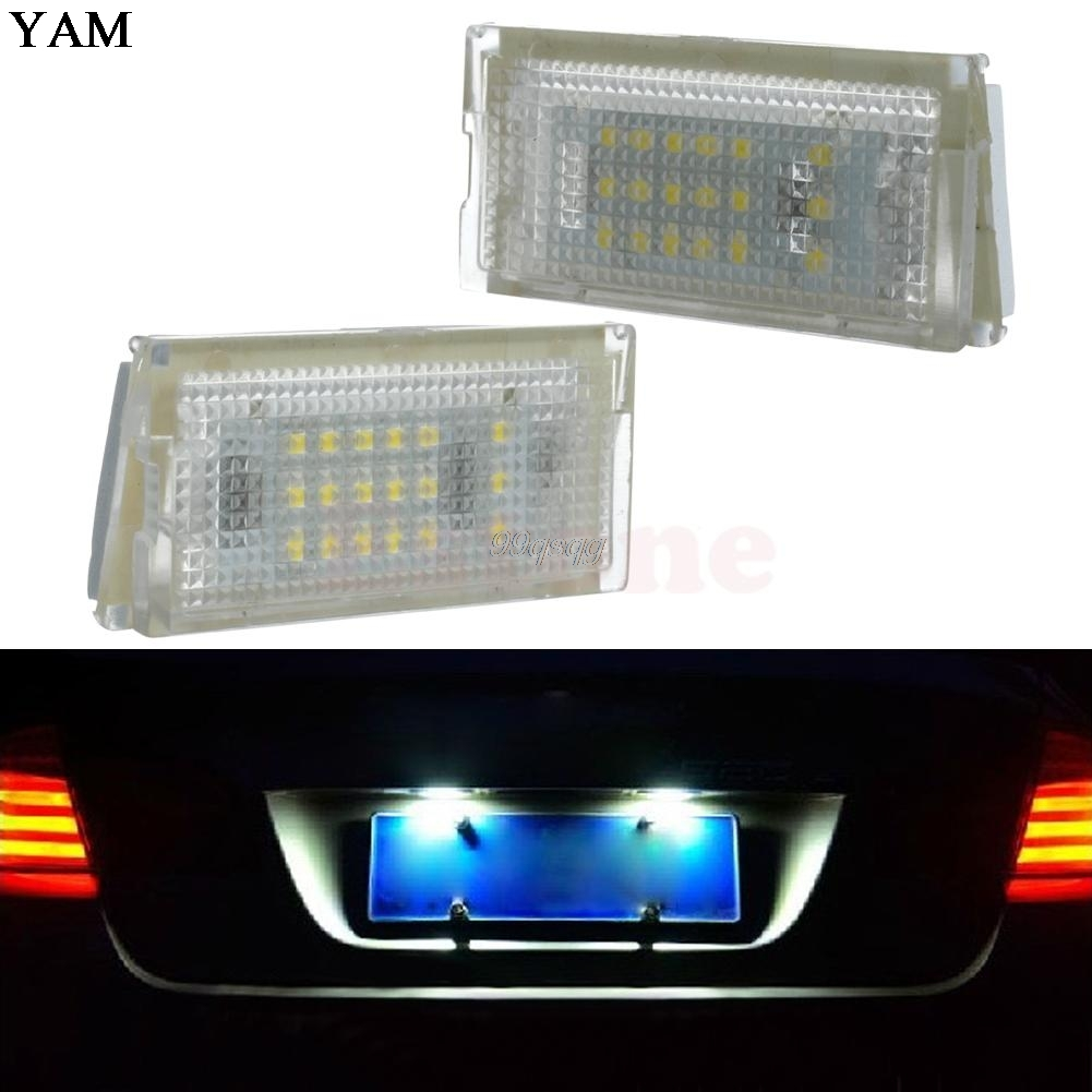 1Pair 18 LED License Plate Lights Error Free Lamp For BMW Mini Cooper R50 R52 R53 Car Light Source Drop shipping