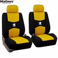 Sandwich Car Seat Covers Wraparound Front&Rear Complete 5 Seat For PEUGEOT 206 207 307 308 301 408 508 Four Seasons
