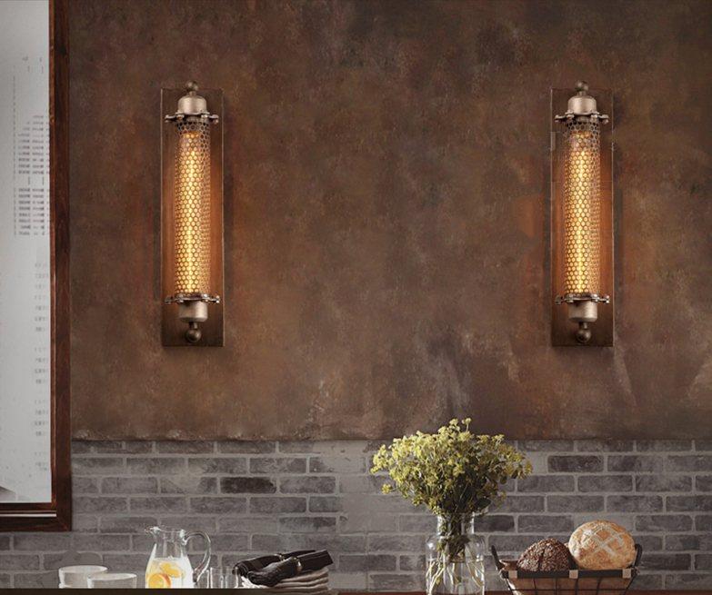 Industrial retro wall lamp creative aisle bedroom cafe bar stairs personality iron decoration wall lamp потолочная люстра st luce preferita sl350 092 08