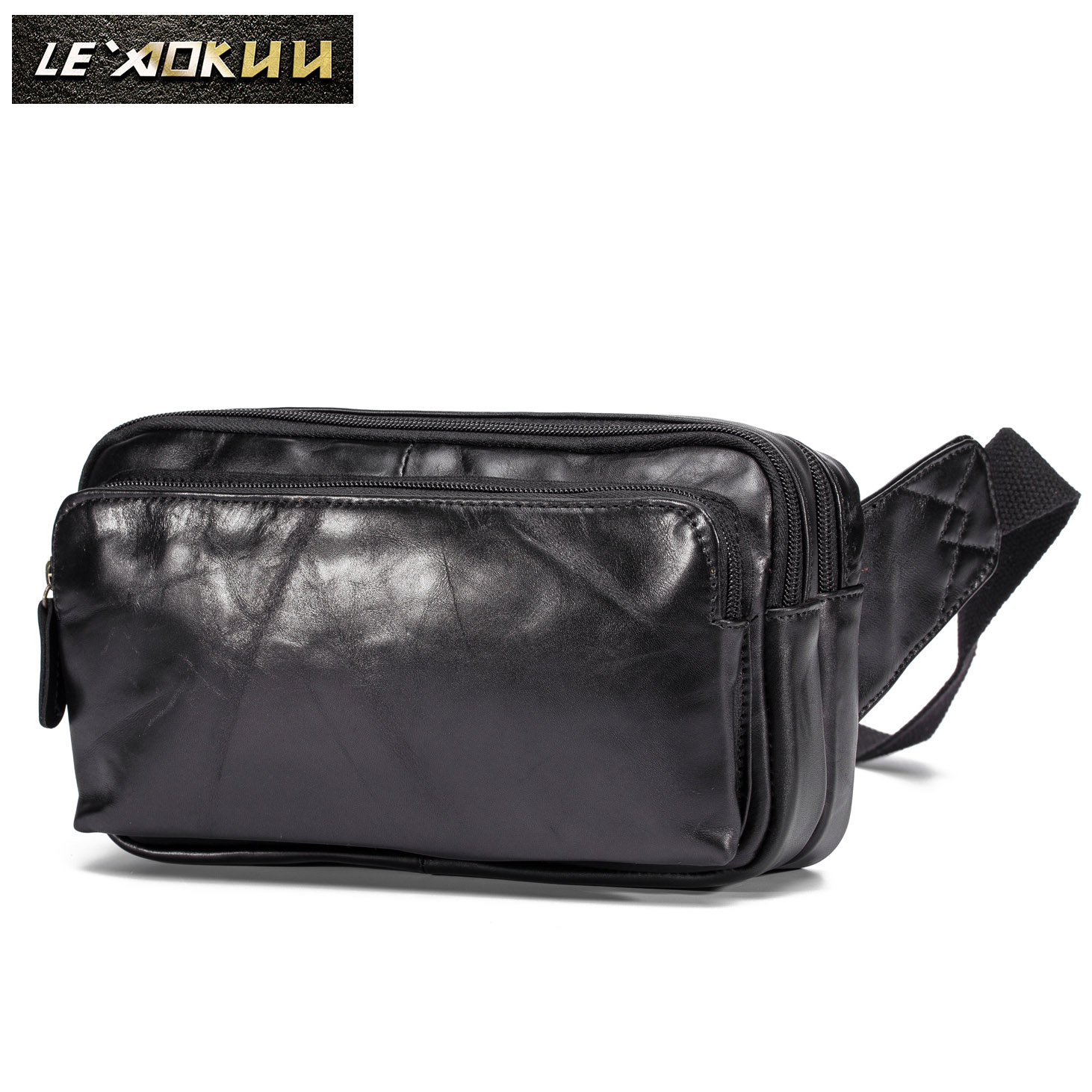 New Real Quality Leather Men Casual Fashion Travel Fanny Waist Belt Pack Sling Bag Design 7