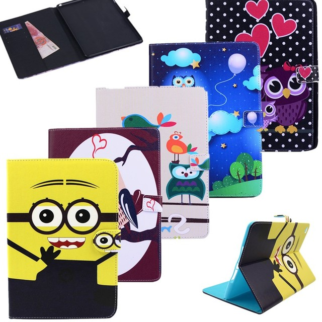 For ipad Air2 tablet case Cute owl pattern Flip Stand PU Leather Cover Case For Apple iPad Air 2 ipad 6 Tablet cover Accessories