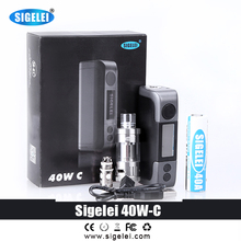Original sigelei  box mod kit electronic cigarette 40W-c with tank very value to buy 1*Automizer 1*battery