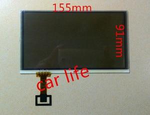 6.5 polegada 8 pino original painel touch Screen Digitador Lente de vidro painel para VW carro RCD510 C065GW03 V0 C065GW03 V1 LCD