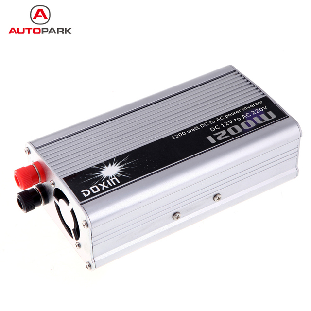 Portable Car Power Inverter DC 12V to AC 220V 1200W mobile Auto vehicle Car Power Converter Transformer Charger for car battery