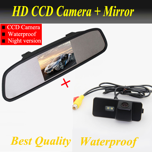 Rear camera for VW Jetta PHAETON/SCIROCCO/SEAT LEON/BORA/EOS/LUPO/BEETLE/GOLF/SUPERB Passat B6 variant + 4.3 Car rear Mirror bluetooth link car kit with aux in interface & usb charger for vw bora caddy eos fox lupo golf golf plus jetta passat polo