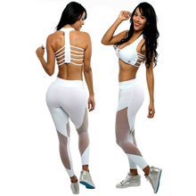 ONLYWITHYOU Women Sport Leggings Gym Running Yoga Capri Pants Fitness Yoga Trousers Waist Sexy Pants Triangular Mesh Stitching