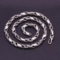 Реальные 100% 925 пробы серебро Для мужчин Цепочки и ожерелья Мода в стиле панк тайский серебряная цепочка мужской Цепочки и ожерелья Модные ук