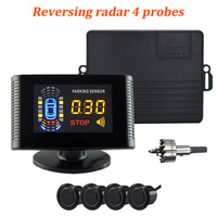 Car Auto LCD Parking Sensor Reverse Backup Car Parking Radar Detector With 4 Sensors Parking Assist