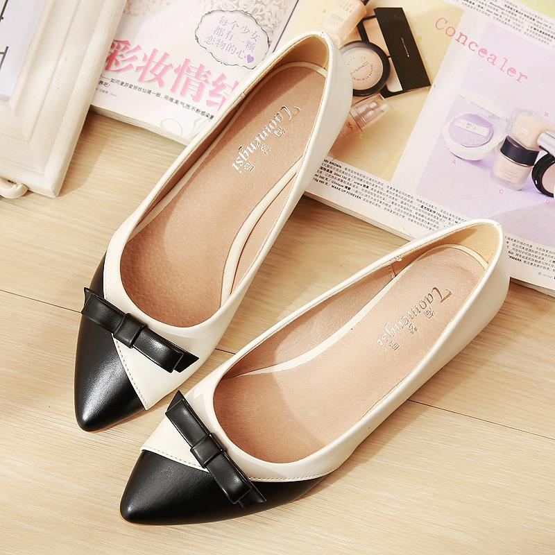 724853f231d Bow Womens Flat Shoes 2017 New Arrival Sexy Ballerinas Flats Wedding  Pointed Flat Shoes Hollow Zapatos Mujer Size 33-43