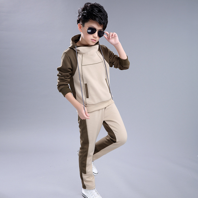 Boy Hooded Tracksuit Clothes set Kids Spring&Autumn Cotton School Uniform Sport Suit Boys Clothing Sets 4 6 8 10 12 14 year children clothing sets for teenage boys and girls camouflage sports clothing spring autumn kids clothes suit 4 6 8 10 12 14 year