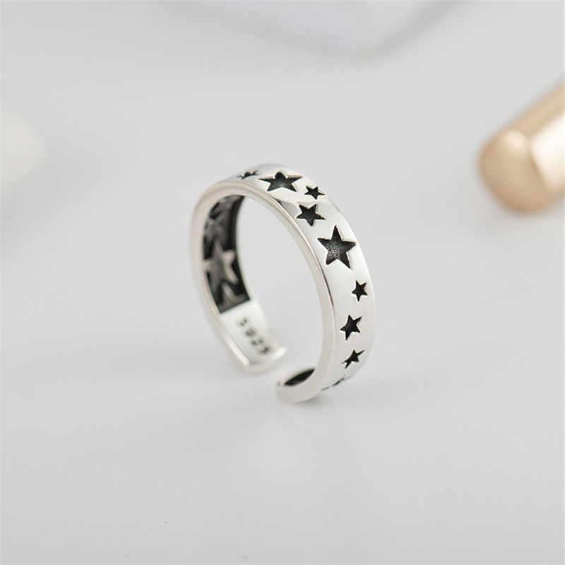MOLIAM 100% אמיתי 925 סטרלינג כסף מתכוונן טבעת לגברים נשים בציר כוכבים עיצוב אצבע טבעות תכשיטים MLRT0183