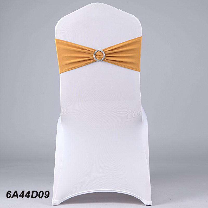 hot sale cheap wedding chair cover elastic bandage with ring drill